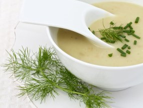 Autumn Fennel & Potato Soup with Omega 3 from Linseed/Flaxseed Oil