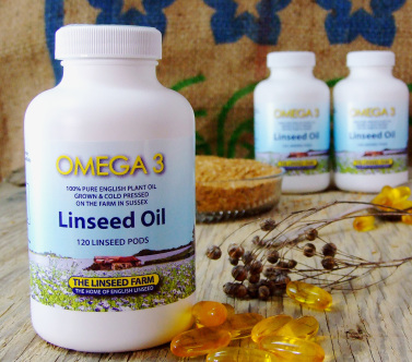 linseed flaxseed flax oil capsules soft gels pods omega 3 supplement