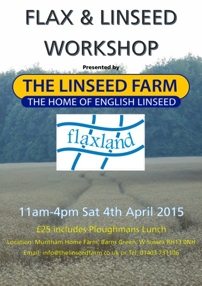 Workshop at The Linseed Farm with Flaxland - A plant of many uses. Linum Usitatissimum