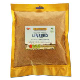 Freshly Ground Linseed Meal (250g Bag)