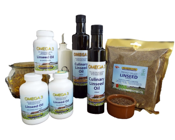 linseed flax seed flaxseed oil meal ground
