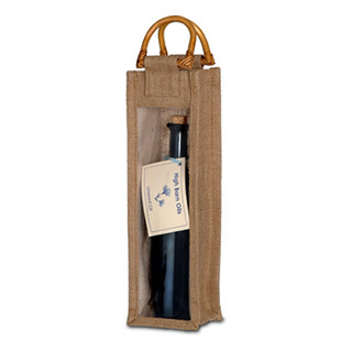 Glass Bottle of Linseed Oil in Hessian Bag (500ml)